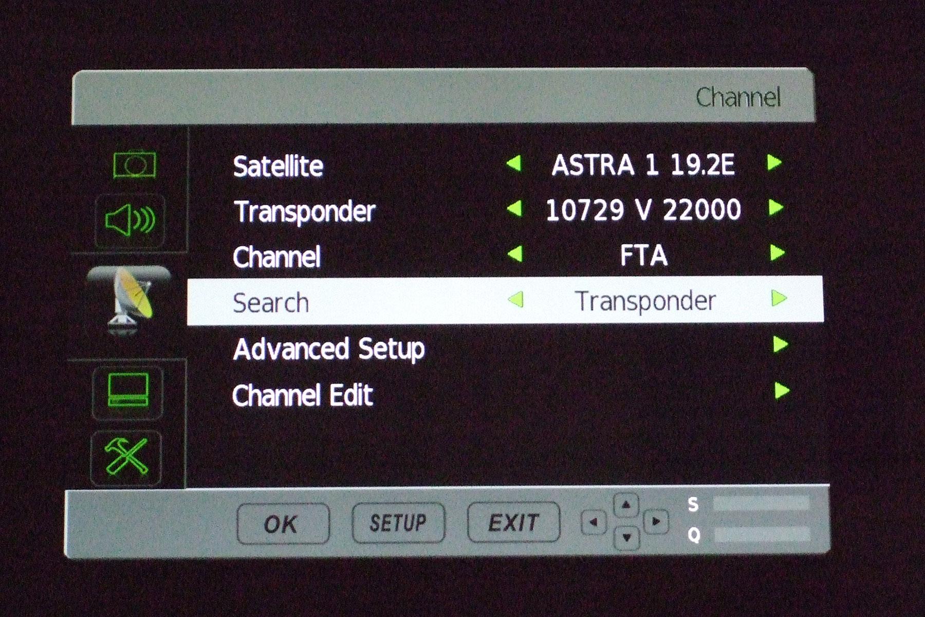 Avtex Television DiSEqC Setup - Aerotrac